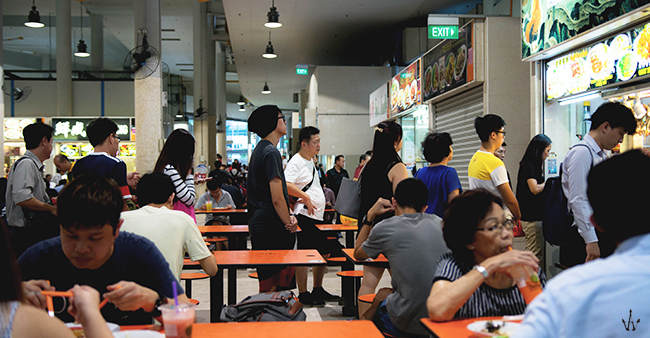 pin xiang chicken rice queue