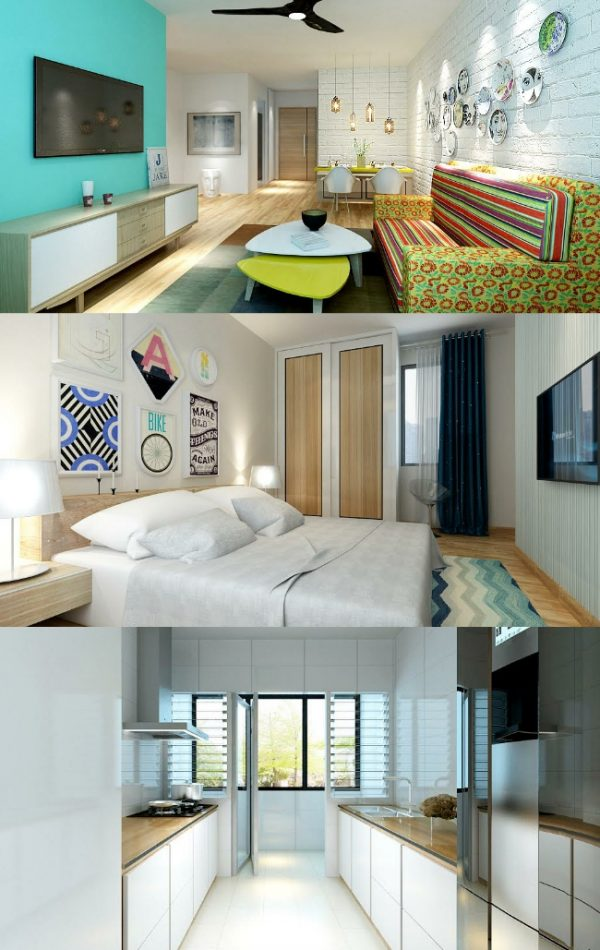 3 Room Hdb Interior Design Ideas: How To Renovate BTO Flats Under S$20,000 (S$630/month For