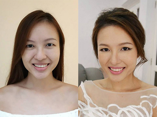 Price: (Makeup Director) S$380/pax, $560/2 pax | (Senior Makeup Artist) S$220/pax, S$360/2 pax. Each session includes: Makeup, Hairstyling, Ampoule, ...