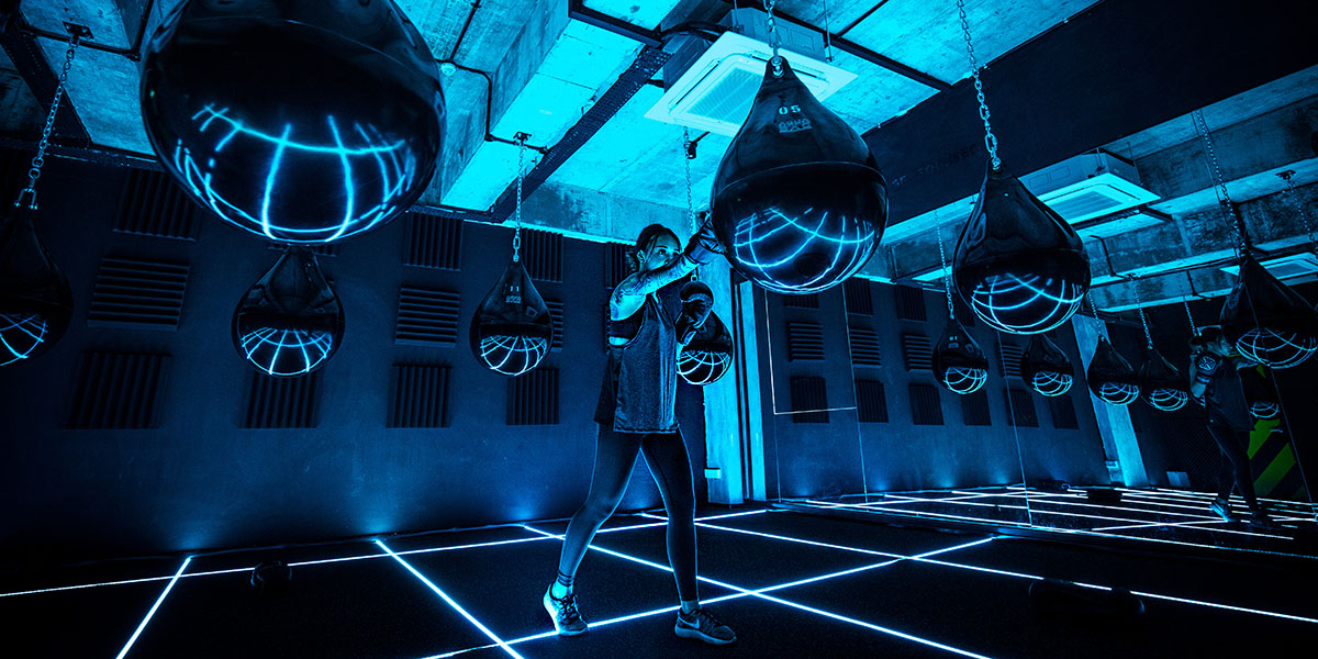 Ground Zero Gym This Futuristic Neon Club In Singapore