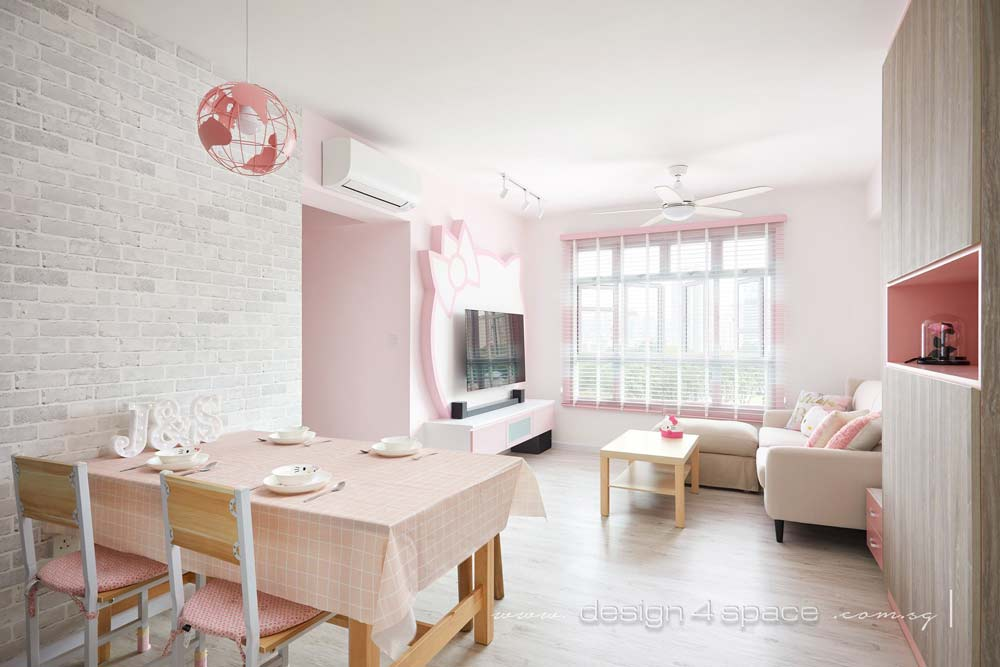 This Pastel Pink Hello Kitty Hdb Flat Cost 20k To Renovate And Is Every Sanrio Fan S Bto Dream Come True Zula Sg