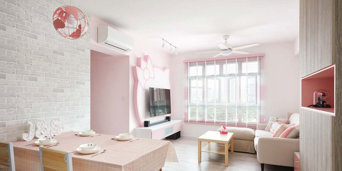 This Pastel Pink Hello Kitty HDB Flat Cost $20K To Renovate And Is Every Sanrio Fan's BTO Dream Come True