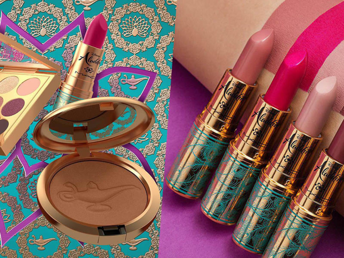 Disney X M A C S Aladdin Makeup Collection Will Grant Your Wish Of