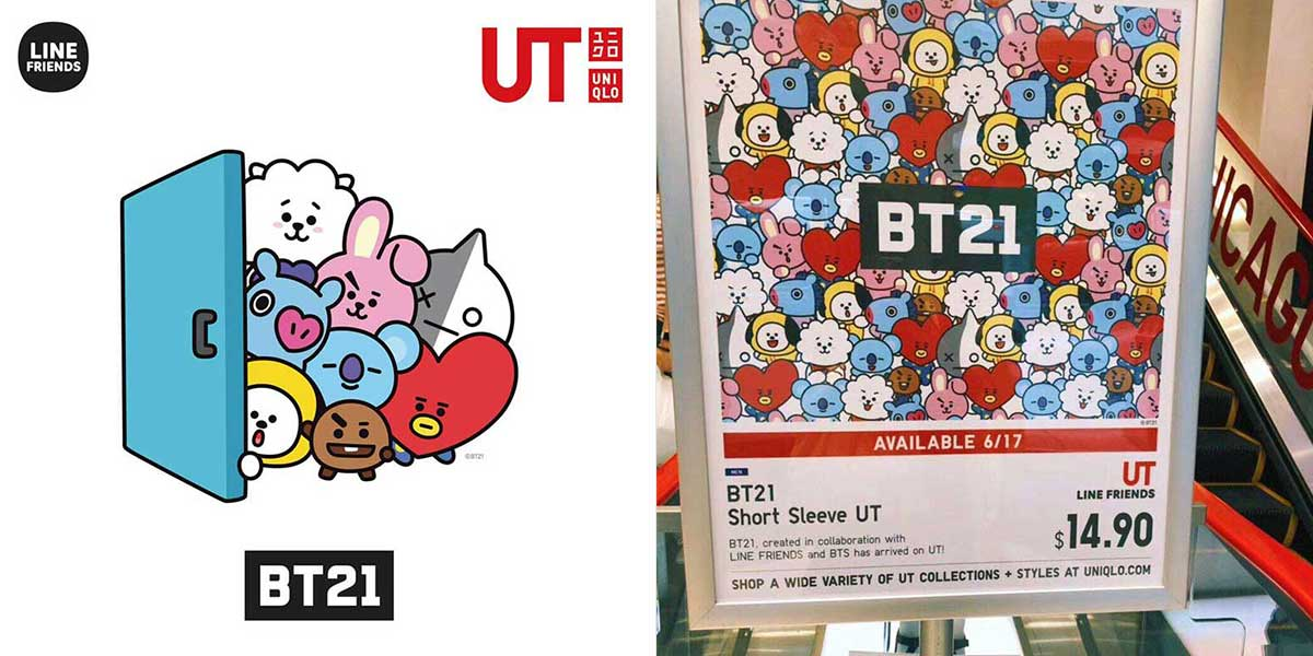 BTS BT21 x Uniqlo Collaboration Will Be Available In Singapore On 21 June