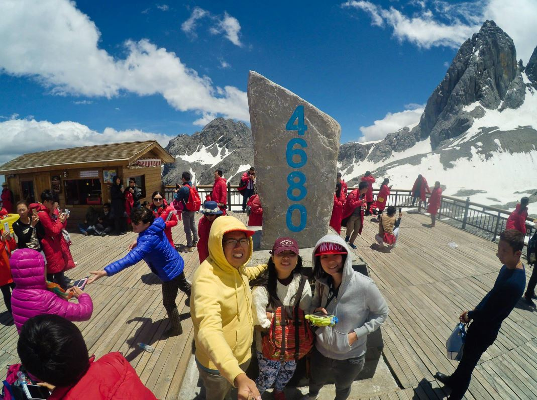 china travel snow mountain