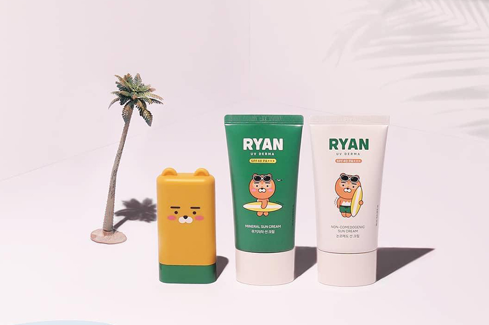 kakao friends ryan sunscreen