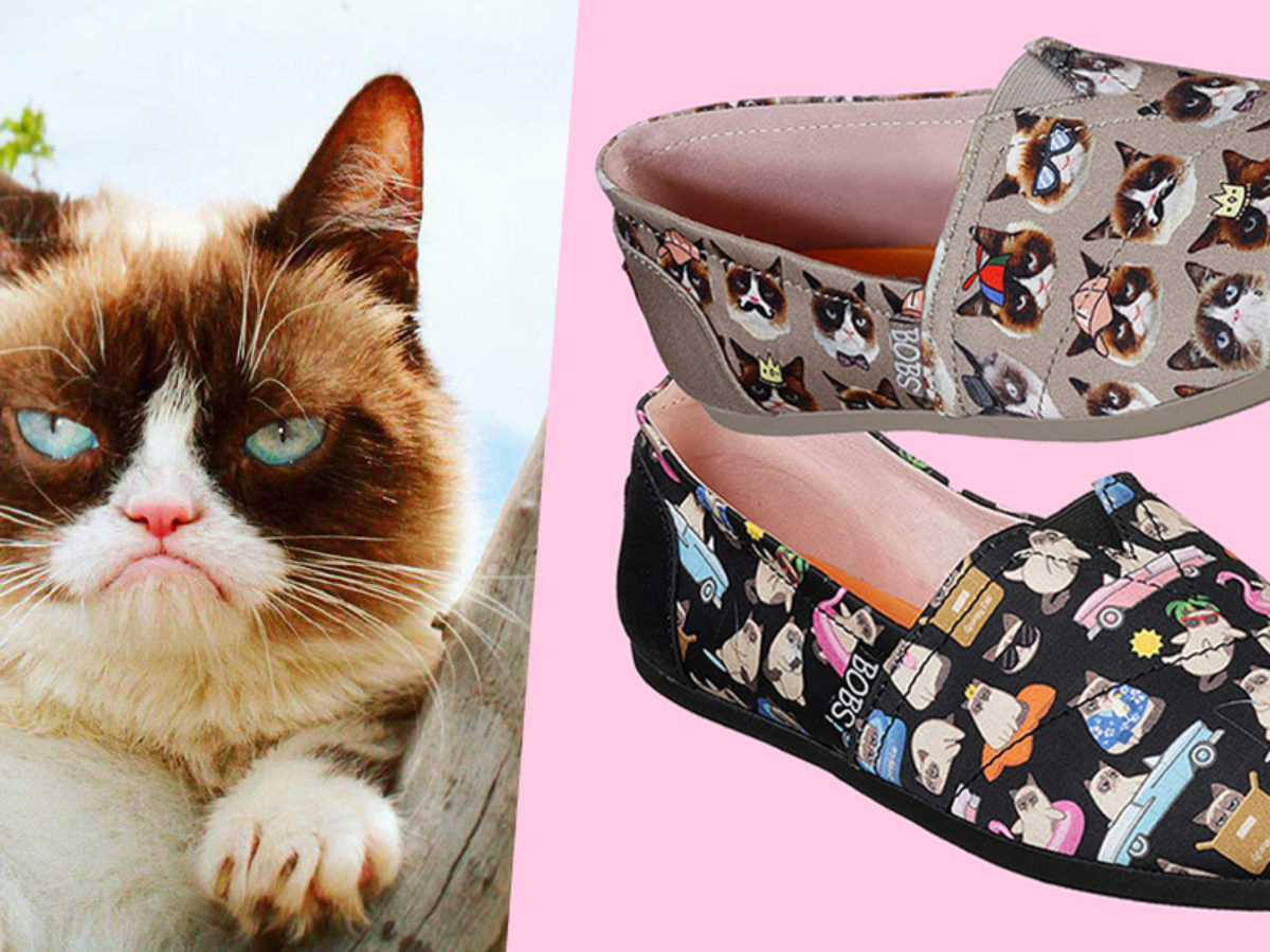 The Skechers x Grumpy Cat Collection