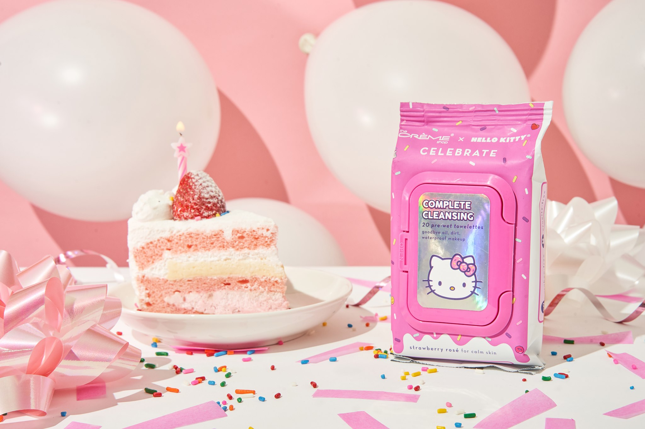 hello kitty beauty cleansing towelettes