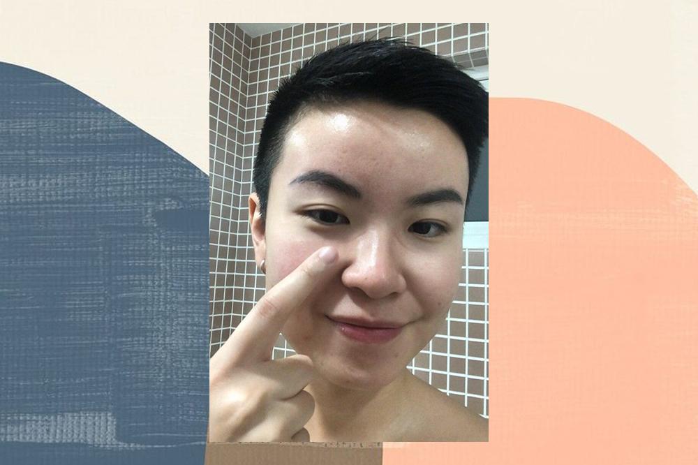 led mask nose marks