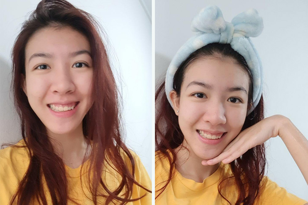 face mask before after jie