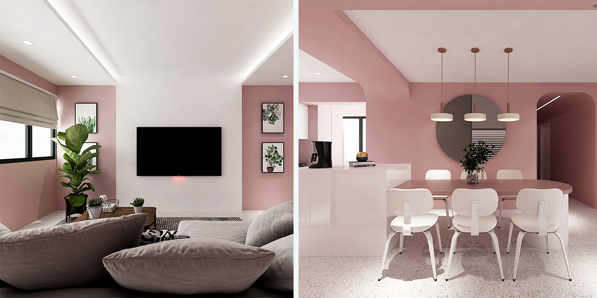 This Minimalist Pastel Pink Hdb Flat Looks Straight Out Of A Wes Anderson Movie Zula Sg