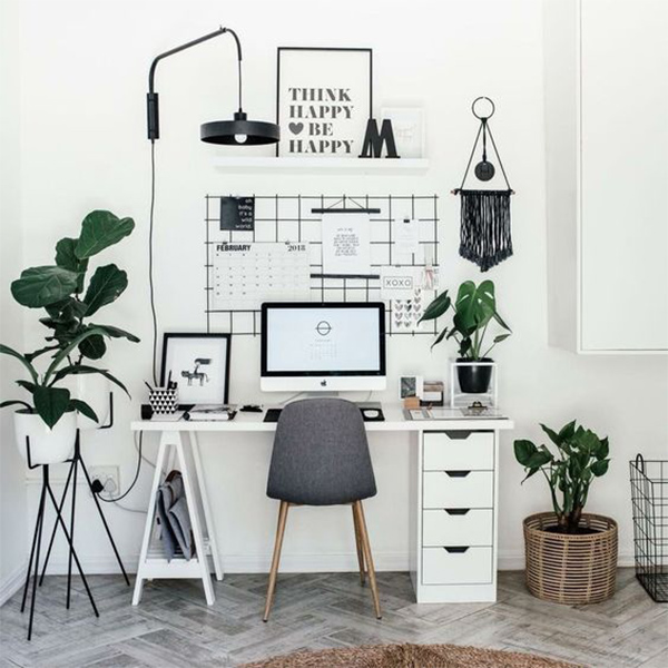 productivity-working-from-home-workspace