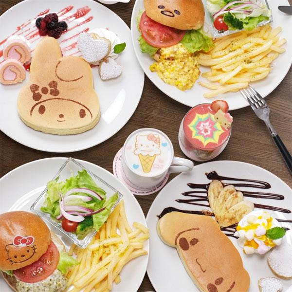 hello kitty theme parks cafes sanrio-cafe-food