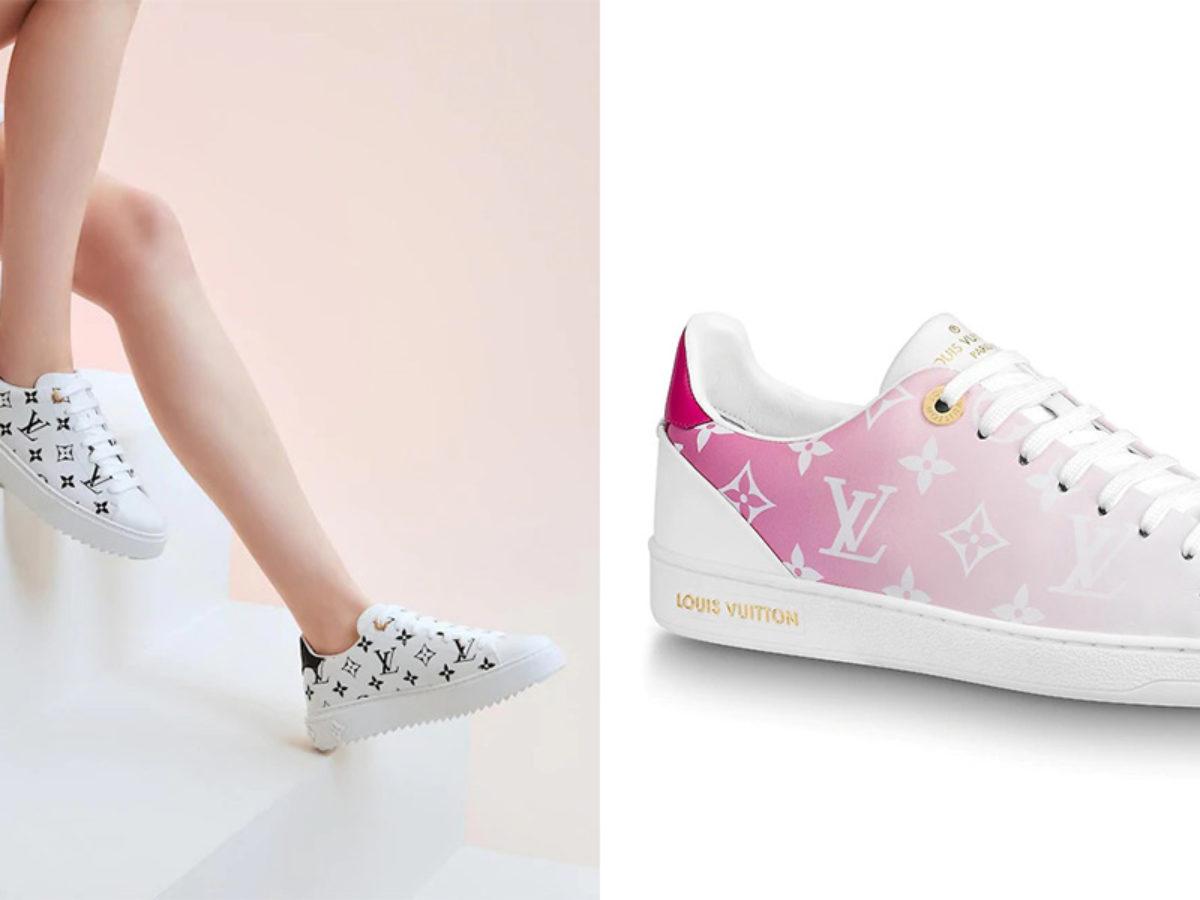 pink louis vuitton tennis shoes
