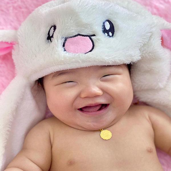 Baby Sanrio goldheart necklace