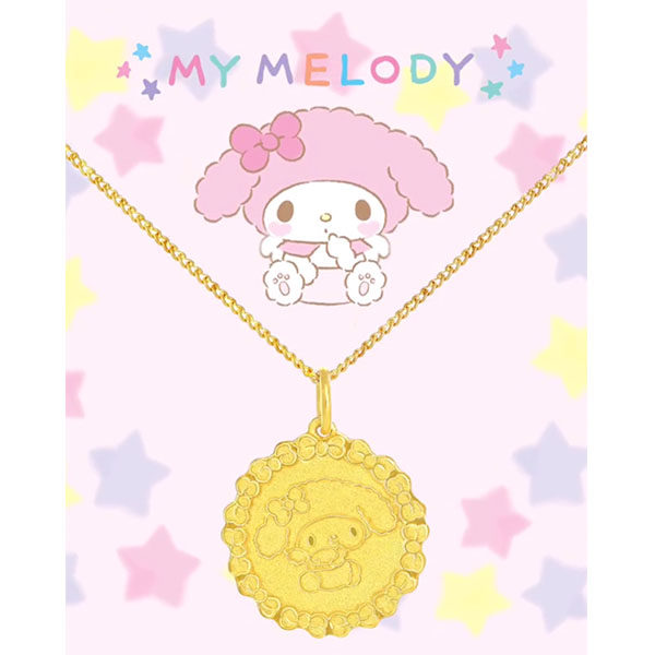 Sanrio goldheart my melody necklace