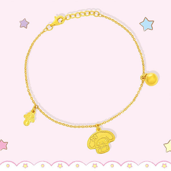 Sanrio Goldheart My Melody Anklet
