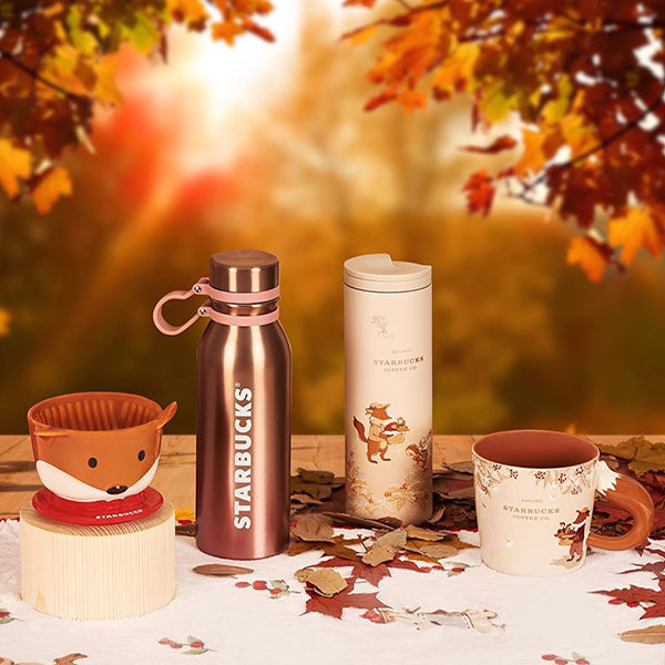 Starbucks Autumn Collection with Foxes