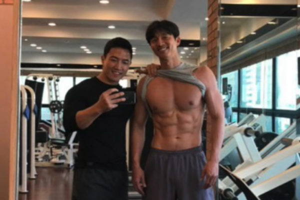 gong yoo gym physique