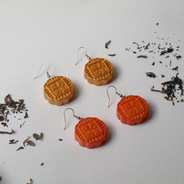 mooncake earrings