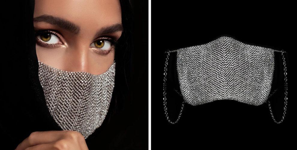 diamond face mask cover