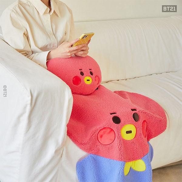 bt21 blanket and cushion tata