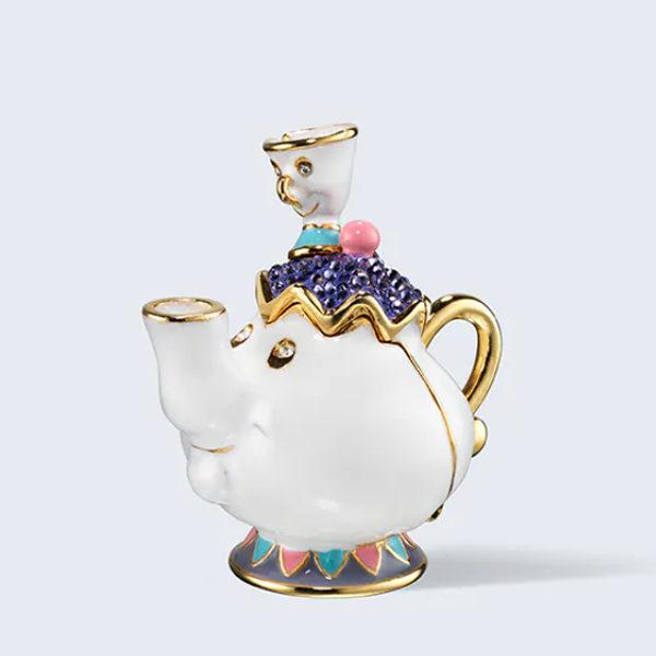 estee lauder disney princess belle mrs potts perfume compact