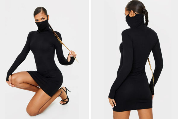 face mask dress model