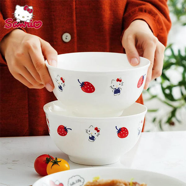hello kitty blue strawberry bowls