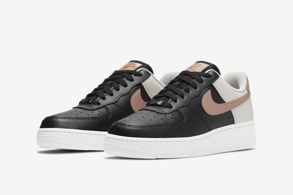 nike air force 1 '07 black and pink 1