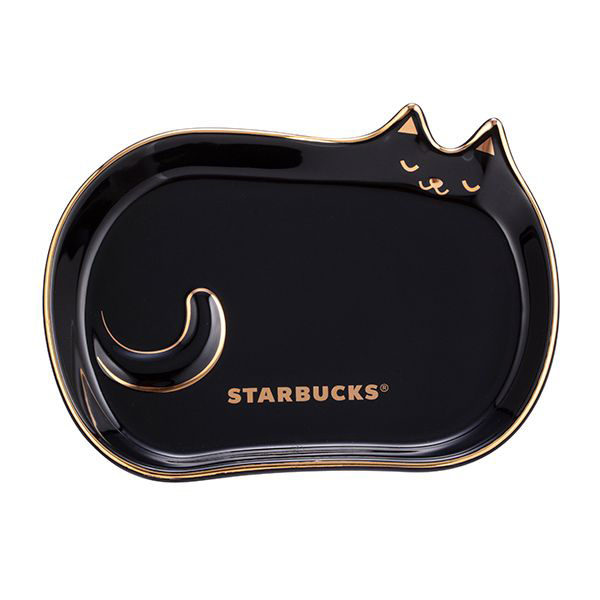 starbucks taiwan halloween 2020 cat dish