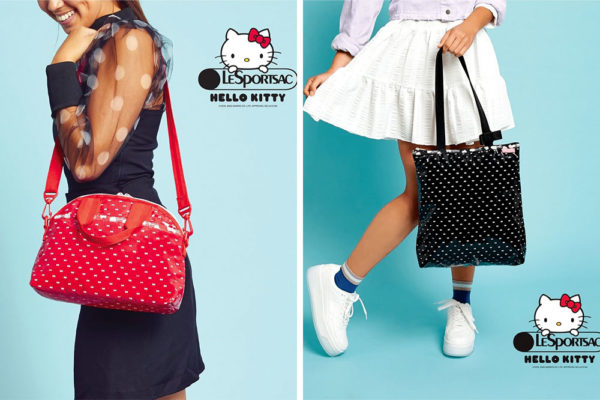 hello kitty x lesportsac 2020 black and red bags