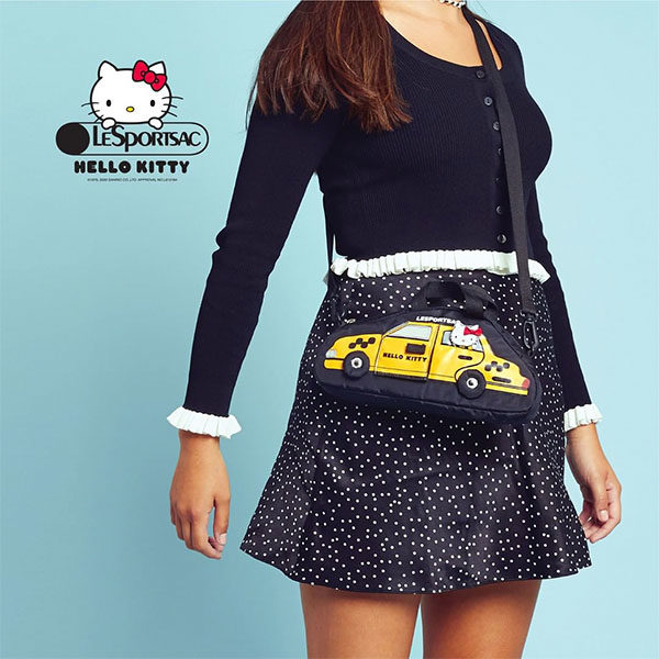 hello kitty x lesportsac 2020 model nyc yellow cab bag