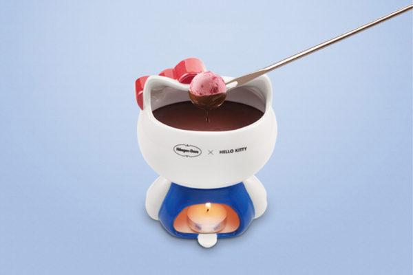 haagen dazs sanrio fondue hello kitty back