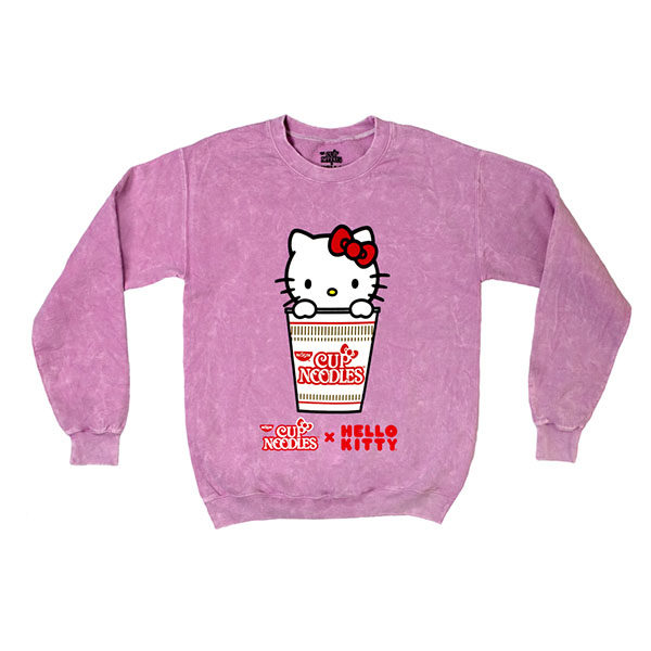 sanrio nissin cup noodles hello kitty pink hoodie