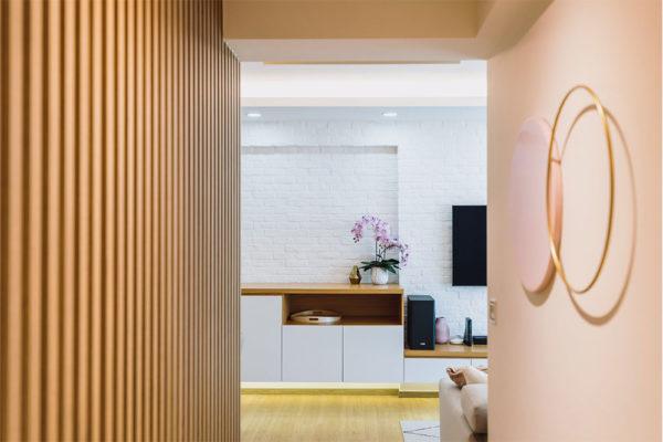 scandinavian pastel home corridor