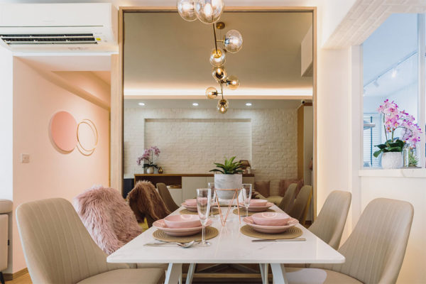 scandinavian pastel home dining area 2