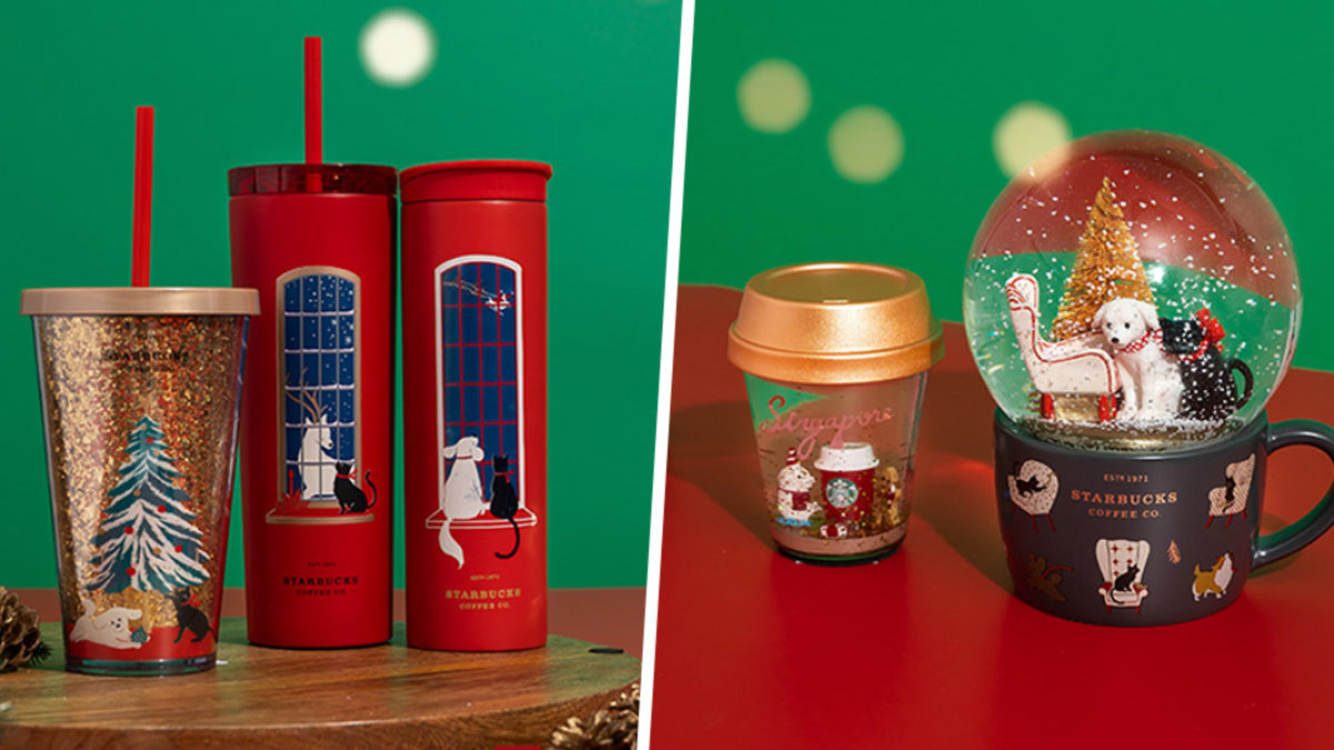 The Starbucks Christmas 2020 Collection Is Made For Cosy Nights In Includes Colour Changing Mug Snow Globes Zula Sg