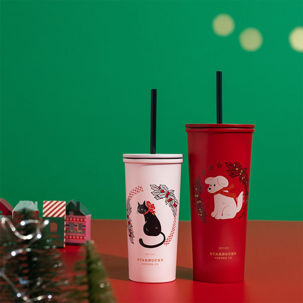 starbucks christmas 2020 dog and cat cold cup