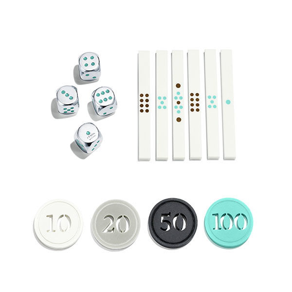 tiffany co mahjong set coins dice and tiles
