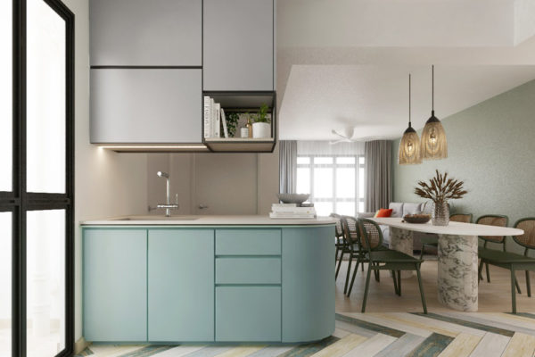 tiffany blue bto kitchen dining and living room