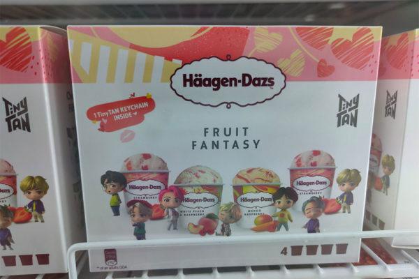 bts tinytan haagen dazs fruit fantasy small box of 4