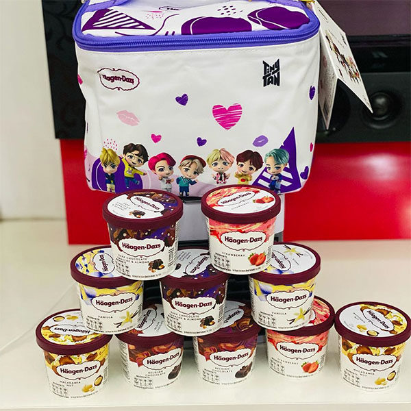 bts tinytan haagen dazs ice cream flavours