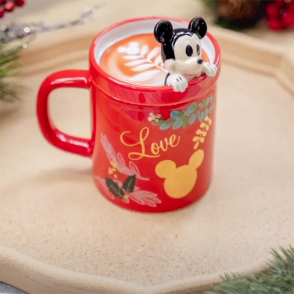 coffee bean disney mickey cup with 3d lid