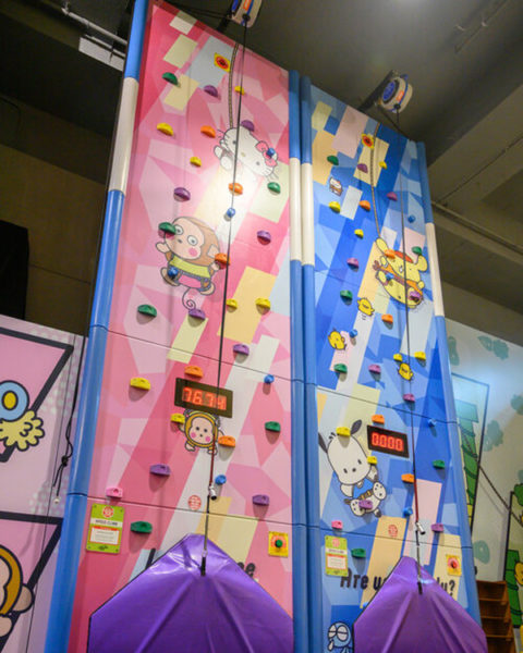 sanrio rock climbing gym wall
