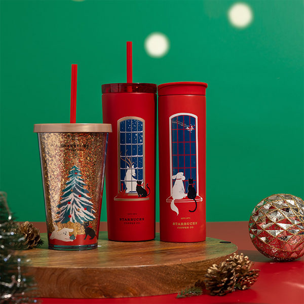 starbucks christmas 2020 glitter cold cup