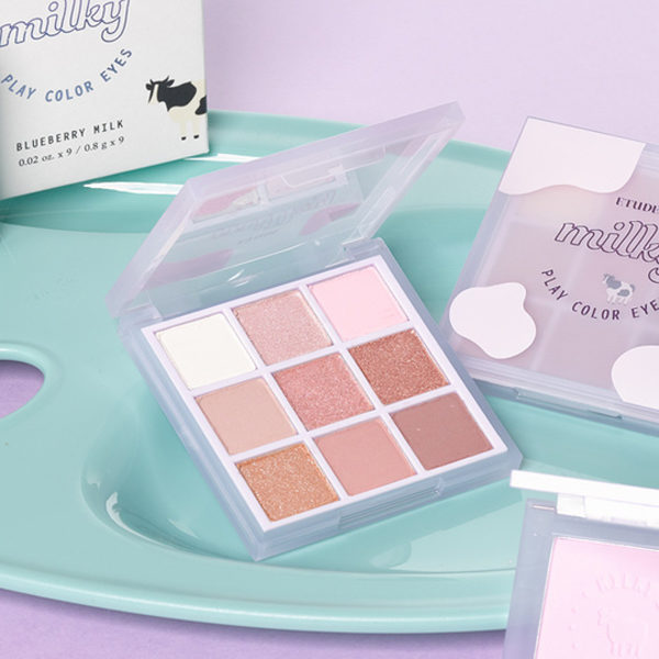 etude milky new year blueberry milk eyeshadow palette