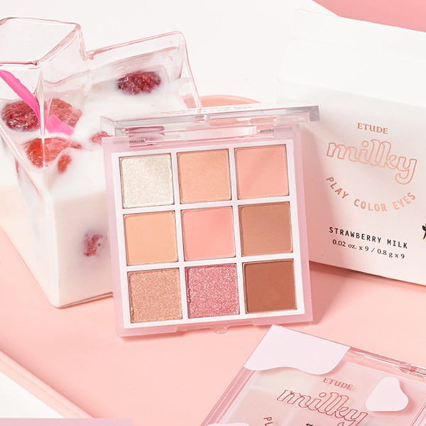 etude milky new year strawberry milk eyeshadow palette
