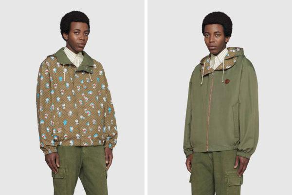 gucci x doraemon reversible jacket
