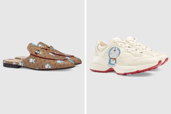 gucci x doraemon shoes